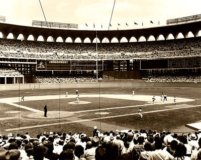 Busch Stadium - St Louis 1966 Art Print
