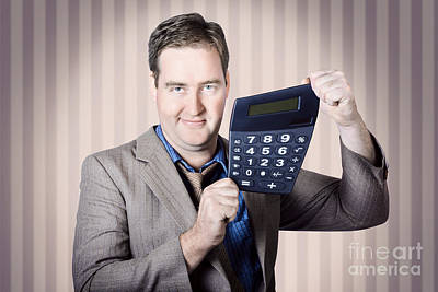 Accounting Photograph - Business Man Growing Business Revenue And Commerce by Jorgo Photography - Wall Art Gallery