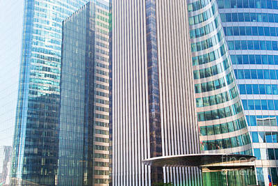 Business Skyscrapers Modern Architecture Art Print