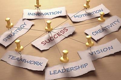 Push Pin Photograph - Business Success by Ktsdesign