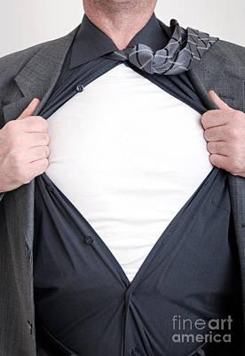 Unbuttoned Photograph - Business Superhero by Antony McAulay