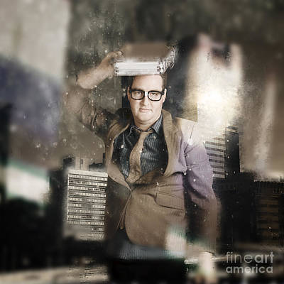 Businessman Reflecting On Morale And Ethics Print by Jorgo Photography - Wall Art Gallery