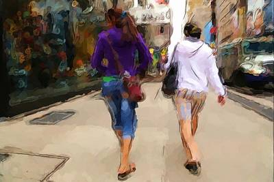 Photograph - Busy Sidewalks by Karol Livote