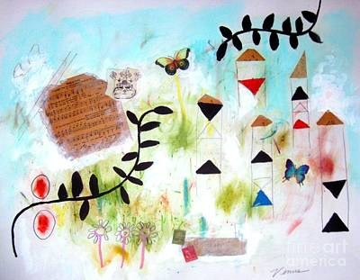 Modernism Mixed Media - Butterfly Garden by Venus