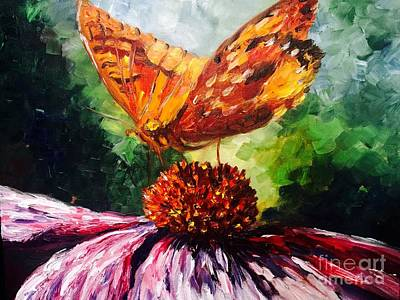 Painting - Butterfly by Irene Pomirchy