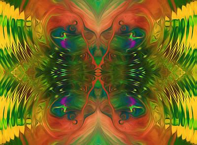 Youthful Mixed Media - Butterfly Matrix by Georgiana Romanovna