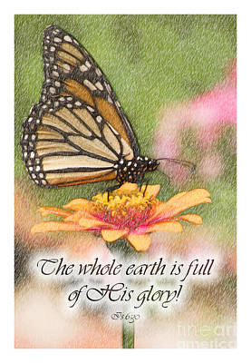 Religious Digital Art - Butterfly Scripture by Jill Lang