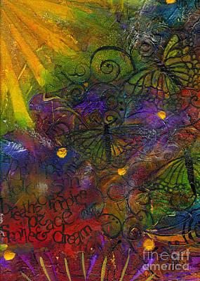 Painting - Butterfly Sun Dance by Angela L Walker
