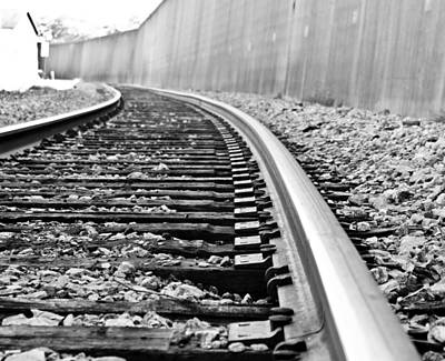 Photograph - Bw Train Tracks by Jonny D