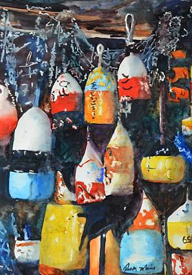 Bouys Painting - By The Sea by Ruth Marie Jepson