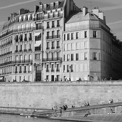 Photograph - By The Seine by Cheryl Miller