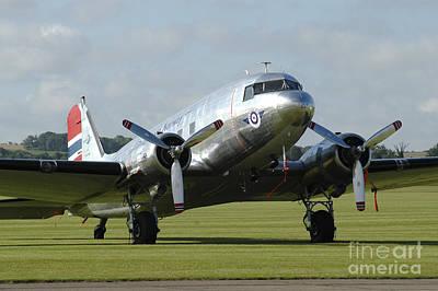C-47 Photograph - C-47 Dakota In Norwegian Colours by Riccardo Niccoli
