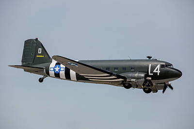 Photograph - C-47 Skytrain In Usaaf Markings by Timm Ziegenthaler