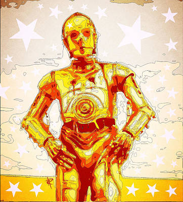 Digital Art - C3po by Russell Pierce
