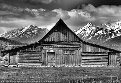Old Wood Cabin Photograph - John Moulton Barn And Teton Range by Dan Sproul