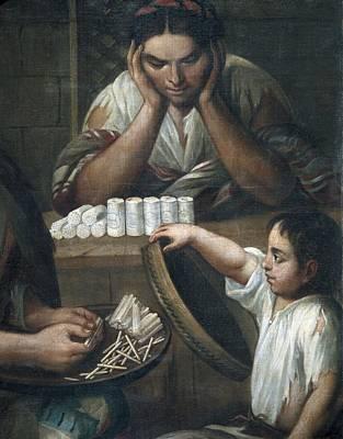 Cabrera, Miguel 1695-1768. De Castizo Y Art Print