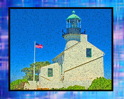 Cabrillo Lighthouse Art Print by Monzo Rock
