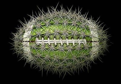 Cactus Football Art Print