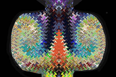 Amazing Stories Mixed Media - Cactus Shaped Wave Pattern Artistic Abstract Deco Decoratios By Navinjoshi Featured Artist by Navin Joshi