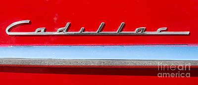 Photograph - Cadillac Badge by Mark Spearman