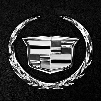Of Car Photograph - Cadillac Emblem by Jill Reger