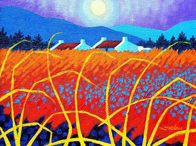 Perspective Painting - Cadmium Meadow by John  Nolan