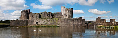 Photograph - Caerphilly Castle by Steve Purnell