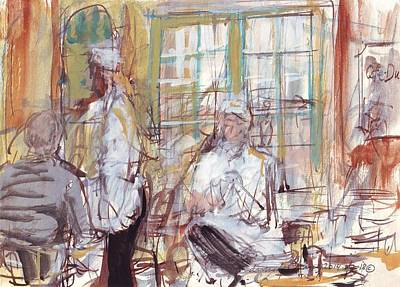 Mardi Gras Drawing - Cafe Du Monde  by Edward Ching