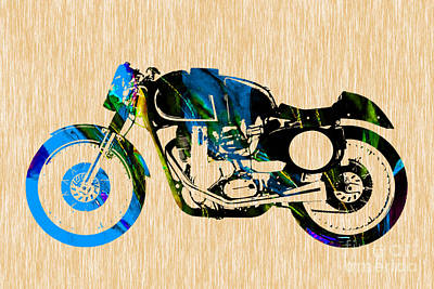 Cafe Mixed Media - Cafe Racer Motorcycle by Marvin Blaine