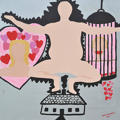 Painting - Caged by Erika Chamberlin