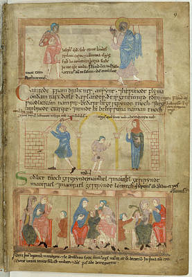 Bible Photograph - Cain And His Descendants by British Library