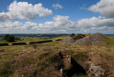 Megalithic Photograph - Cairn D On Carbane West, Loughcrew by Panoramic Images