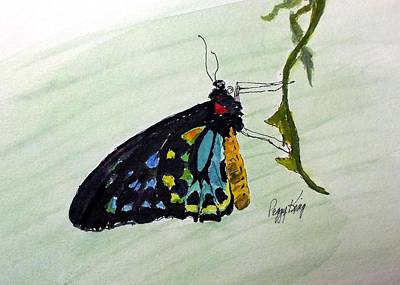 Painting - Cairns Birdwing by Peggy King