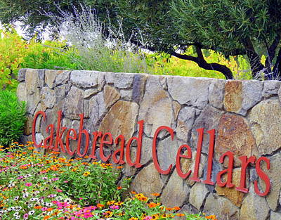 Cakebread Photograph - Cakebread Cellars by Jeff Lowe