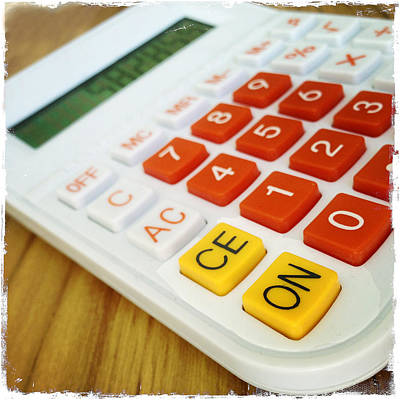 Accountancy Photograph - Calculator by Les Cunliffe