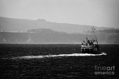 Caledonian Macbrayne Mv Canna Ferry Sails Off To Ballycastle From Rathlin Island Northern Ireland Art Print