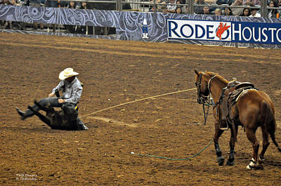Photograph - Calf Roping by Teresa Blanton