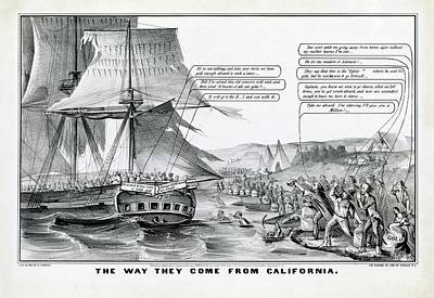 Gold Rush Photograph - California Gold Rush Satire by Library Of Congress