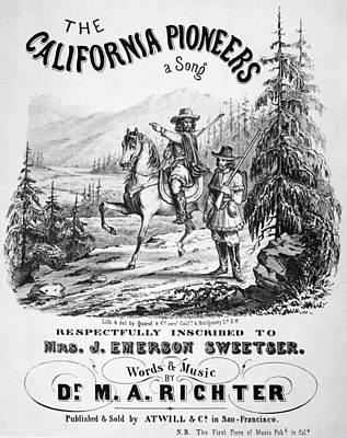 Destiny Painting - California Pioneers, C1850 by Granger
