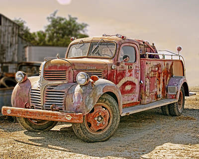 Photograph - Calusa Rural Fire Truck No2 by William Havle