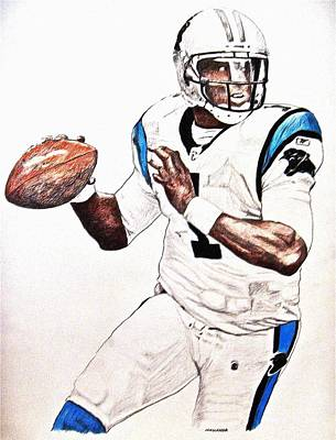 Cam Newton Art Print