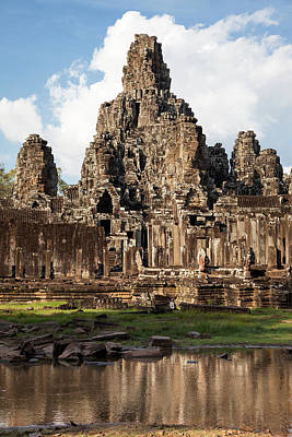 Angkor Thom Photograph - Cambodia, Bayon Temple, Late 12th-13th by Charles O. Cecil