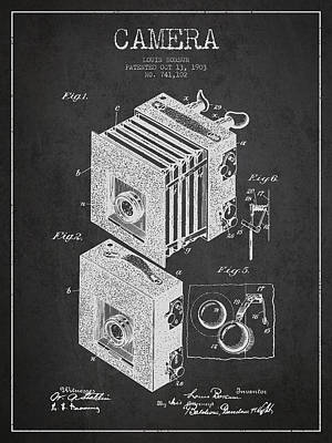 Camera Digital Art - Camera Patent Drawing From 1903 by Aged Pixel