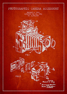 Vintage Camera Wall Art - Digital Art - Camera Patent Drawing From 1963 by Aged Pixel