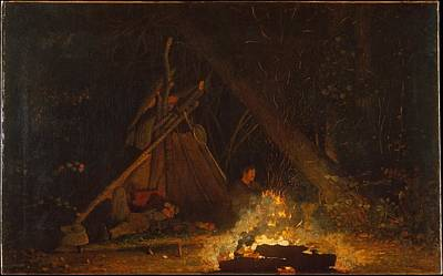 Night Painting - Camp Fire by Celestial Images