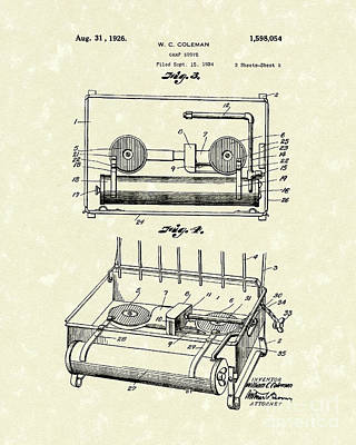Drawing - Camp Stove 1926 Patent Art by Prior Art Design