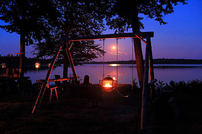 Photograph - Campfire By Moonlight by Barbara West