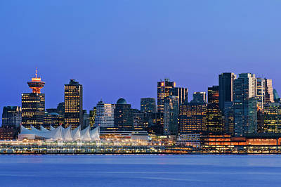 Canada Place Photograph - Canada, Bc, Vancouver Skyline by Rob Tilley