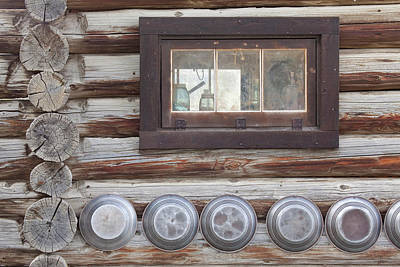 Old Log Cabin Photograph - Canada, British Columbia, Fort Steele by Jaynes Gallery
