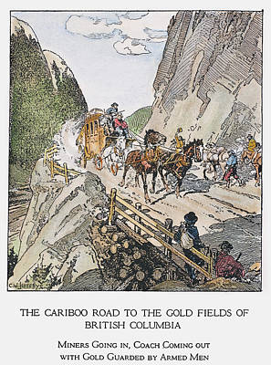 Dirt Roads Drawing - Canada Gold Mining, 1860s by Granger